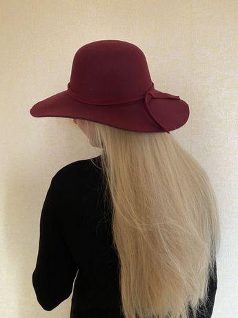 Шляпа бордо