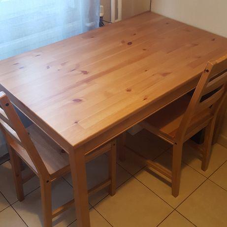Stół kuchenny Ikea Jokkmokk z 4 krzesłami