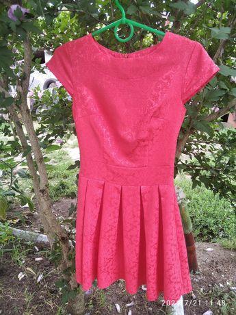 Платье коралловое 40-42 р