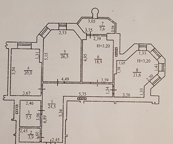 Продам 3к квартиру на Довженко дом Каркашадзе