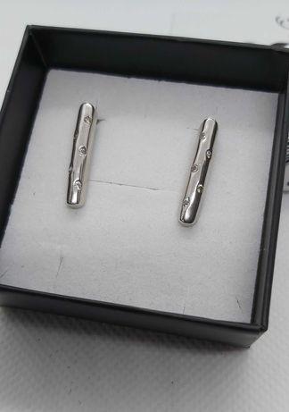 Kolczyki srebrne z cyrkoniami pr 925