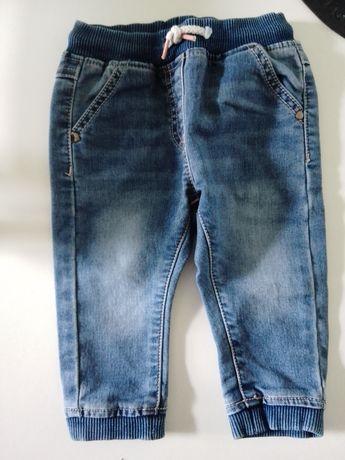 Spodnie dżinsowe next 6-9 m