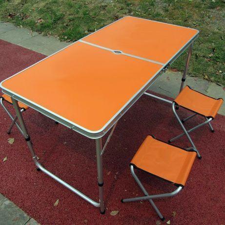 Стол для пикника + 4 стула + ЗОНТ. Раскладной столик рыбалки охоты тур
