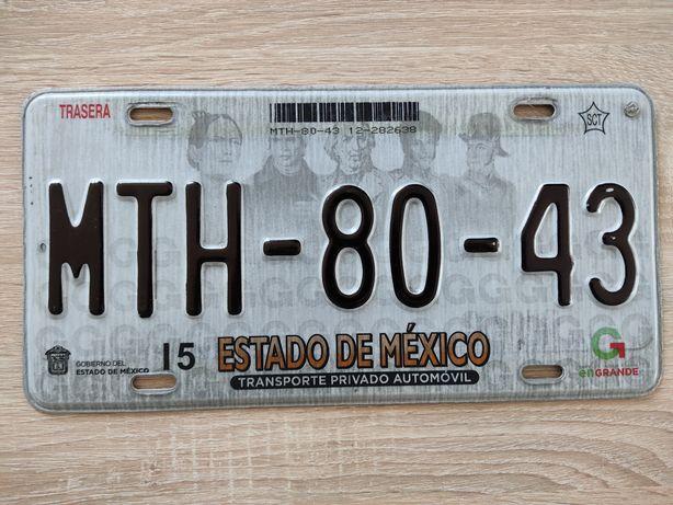 Tablica rejestracyjna Mexico Meksyk Estado de México tablica USA