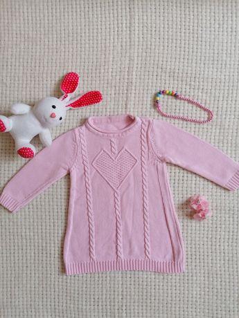 Теплое платье 98 Gap розовое зимнее Chicco Ido котон туника детское