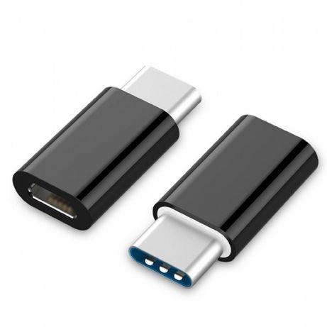 Adaptador USB Type-C p/ Micro USB Preto/ Branco portes incluídos