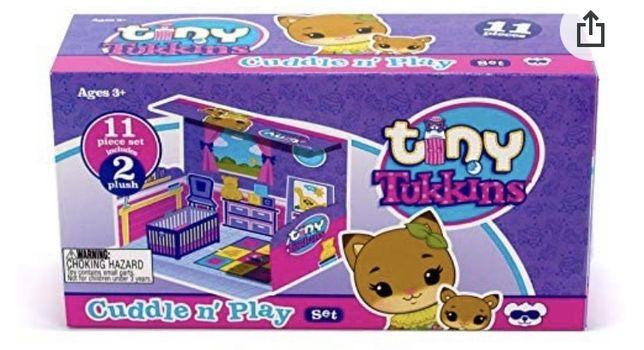 Misie. Tiny Tukkins pluszowe zabawki w domkach