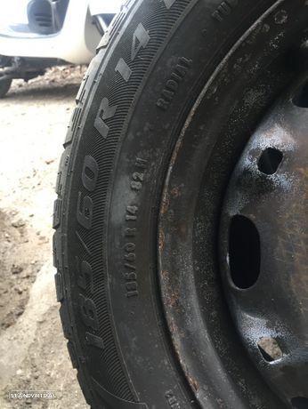 3 Jantes 5x100 com pneus Novos Mabor