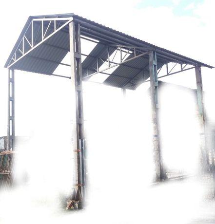 Wiata 5 x 7 m bindry dach kratownice kratownica konstrukcja