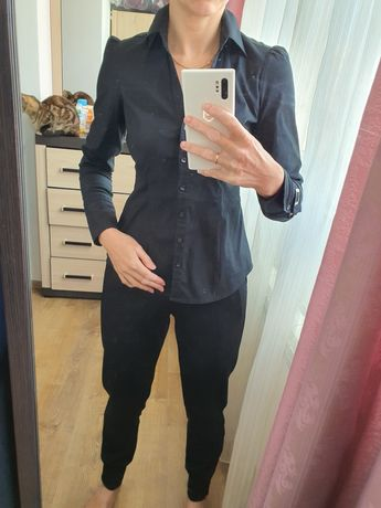 Рубашка чёрная, размер S