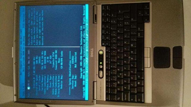 Dell D600 a funcionar