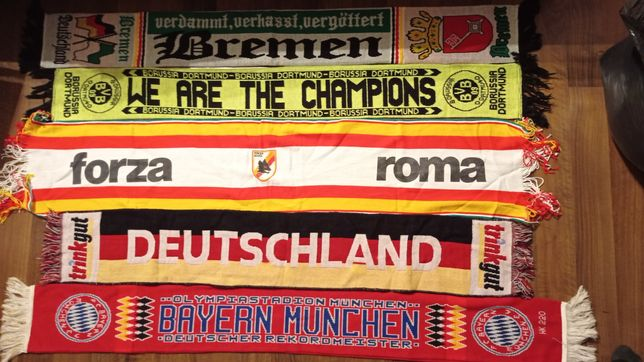 5 x Szaliki Bayern Deutschland AS Roma Borussia D. Bremen