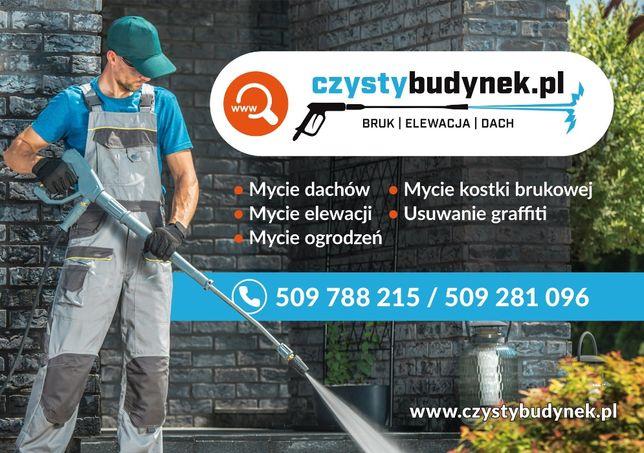 Mycie czyszczenie impregnacja kostki brukowej elewacji dachów ogrodzeń