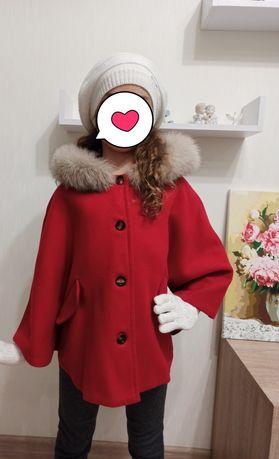 Dior роскошное шерстяное пальто пончо 7-8 лет 128-134см Monnalisa