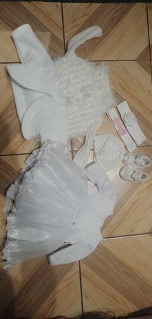Sukienka do chrztu 62 KOMPLET