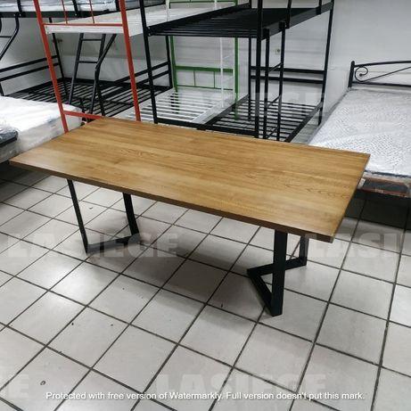 Стол лофт из дерева ясень 200х90см В НАЛИЧИИ для кухни обеденный офиса