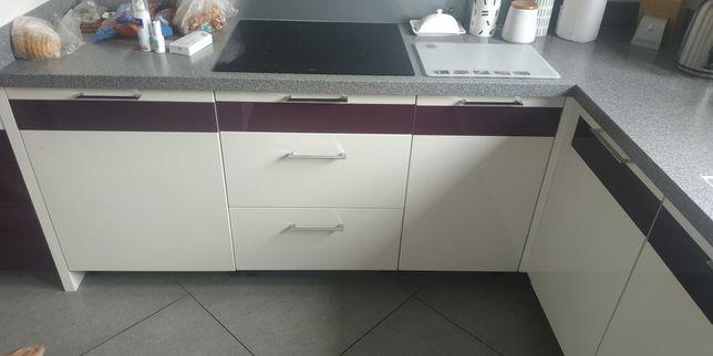 Fronty lakierowane do kuchni lakier + szkło, fronty kuchenne