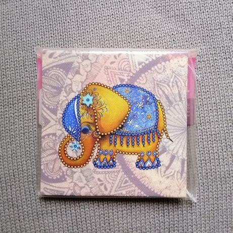 Слон набор для вышивания бисером Магнит слоник для рукоделия Картина