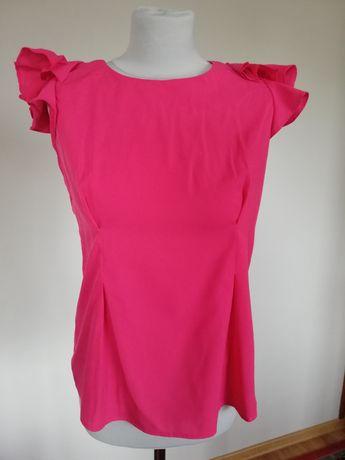 Piękna bluzka do biura fuksja róż francuska marka cerme rozm L