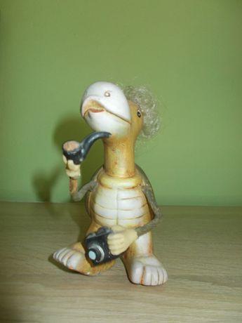 figurka żółw podróżnik ozdoba bibelot prezent turysta drobiazg mikołaj