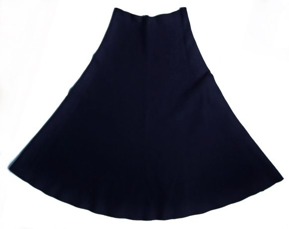 Zara czarna spódnica rozkloszowana, dzianina, 36 S