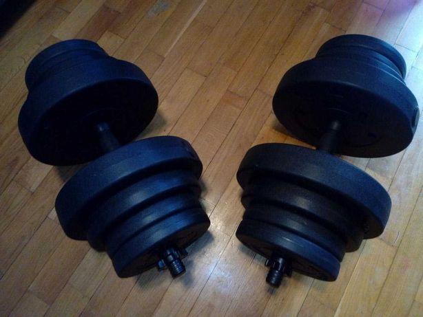 Hantle 40 kg - 2x 20 kg - obciążenie siłownia fitness