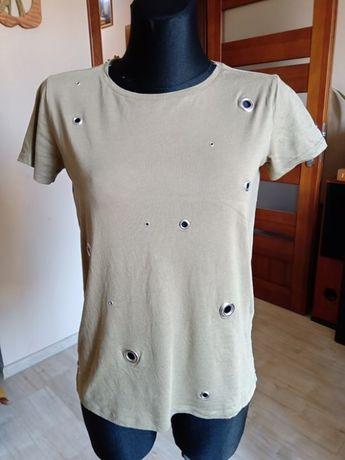 Damska bluzka kolor khaki zielony RESERVED XS