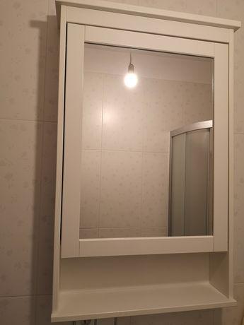 IKEA HEMNES  Szafka z lustrem i drzwiami, biały63x16x98 cm