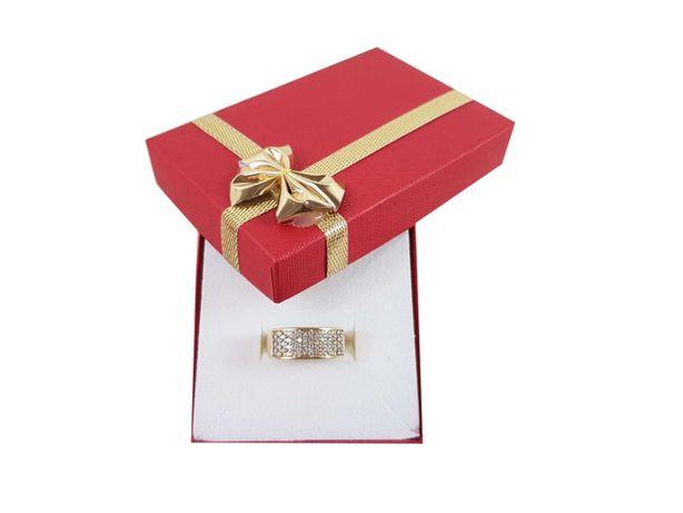 Złoty pierścionek z cyrkoniami P333 2,22G R10