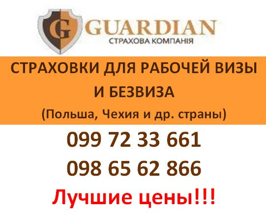 Страховка для рабочей визы/безвиза в Польшу за 10 мин, офис в Херсоне