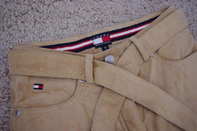 Tommy Hilfiger nowe spodnie skora skorzane kowbojki dzwony