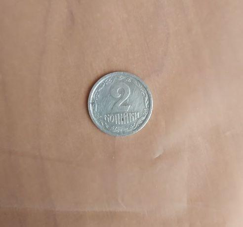 2 копейки / копійки Украины 1993 год, алюминий