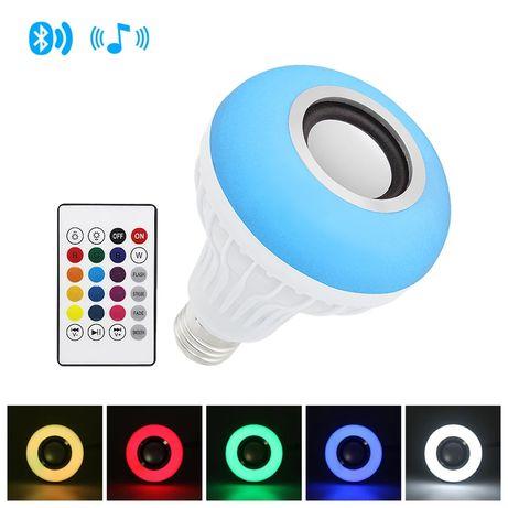 розумна E27 Світлодіодна rgb-лампа бездротова Bluetooth динамік.