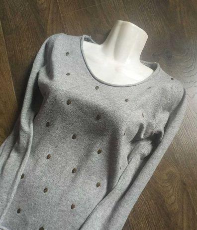 Джемпер женский б/у Турция свитер кофта худи свитшот шерсть весенний
