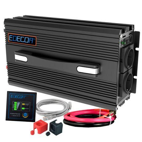 Inversor 12V/220V Onda Pura 2500/5000W Novo p/ Carro, Autocaravana etc
