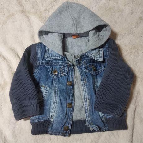 Куртка джинсовая, кофта теплая девочка/мальчик, 6-9 мес, 68-74 рр