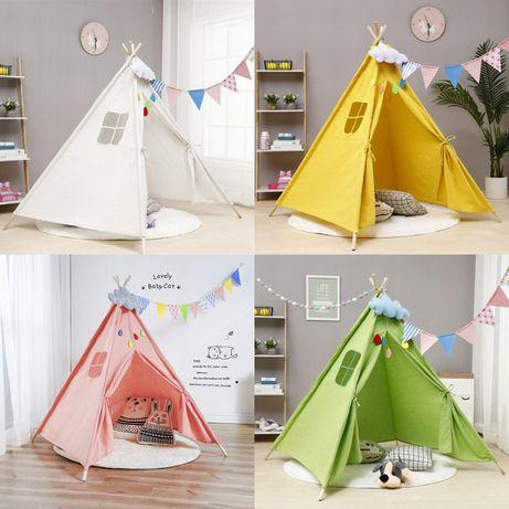 Детская игровая палатка вигвам шалаш домик намет 5 цветов