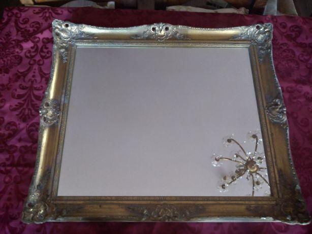 Lustro Glamour stara złota drewniana rama.