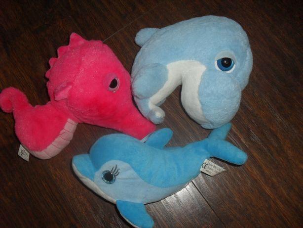 3 sztuki duże błyszczące oczy delfin konik morski