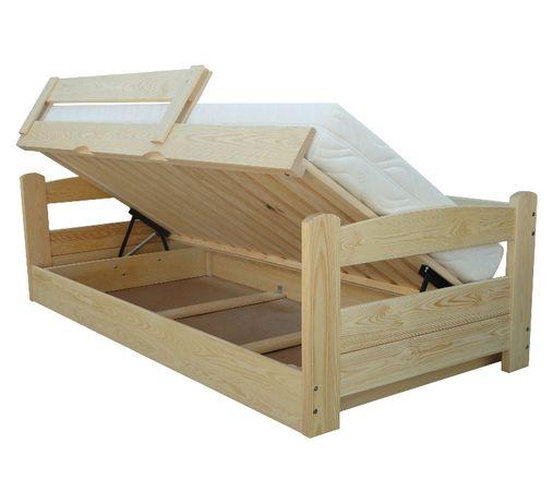 łóżko otwierane na bok z pojemnikiem TURBO 90x190