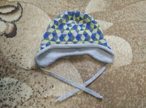 Демисезонная шапка ушанка scorpio yoclub с завязками р48-50 Польша
