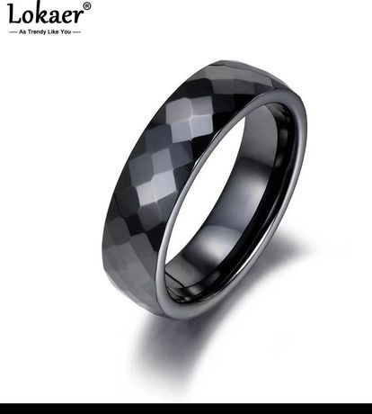 Czarny ceramiczny pierścionek rozmiar 9