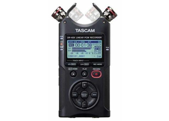Gravador Audio Tascam DR-40x como novo + Comando wireless Tascam RC-10