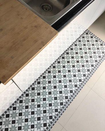 Passadeira de Cozinha PVC Mosaico  - Anti Derrapante By Arcoazul