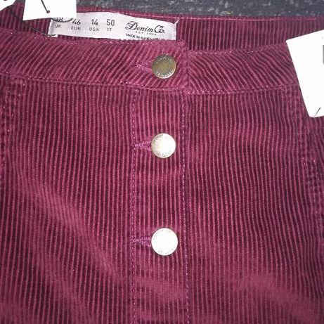 Nowa sztruksowa spódniczka primark guziki na przodzie