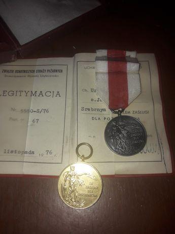 Medal odznaczenie osp PRL