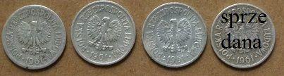 Monety 10 gr bez znaku mennicy 1961 i 1974 r.