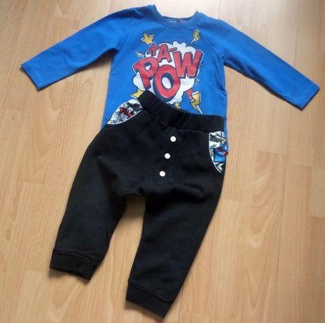 WÓJCIK komplet bluzka spodnie 86