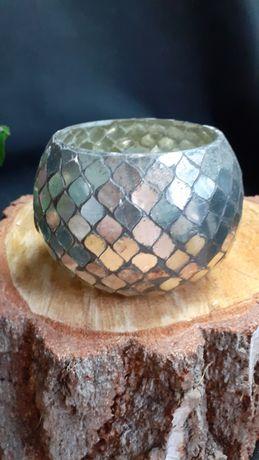 Osłonka doniczka szklana kula do makramy 10cm