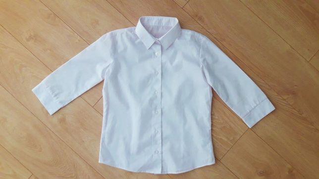 biała koszula wizytowa elegancka dla dziewczynki 140 9 10 lat